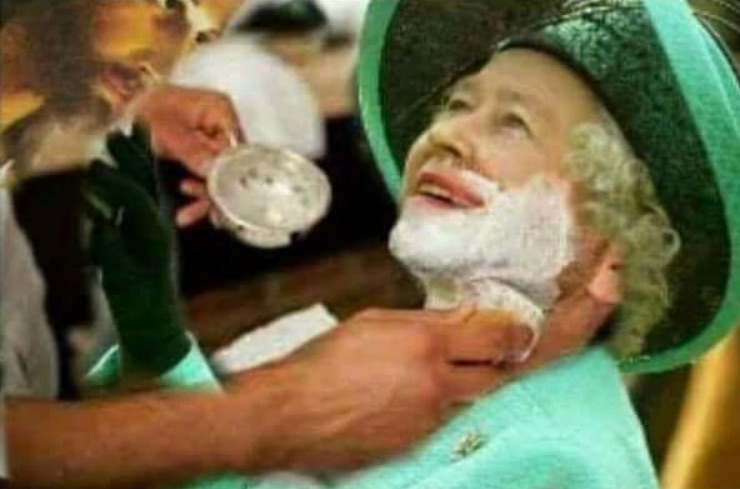 Queen Elizabeth gets a shave